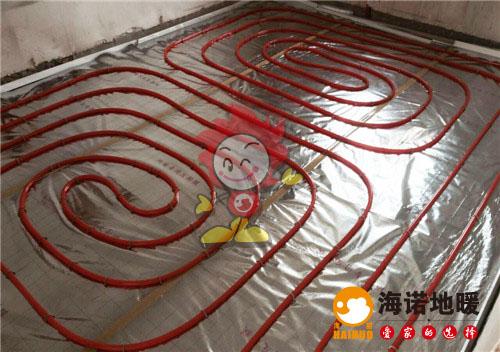 华江里海诺地暖盘管施工效果图