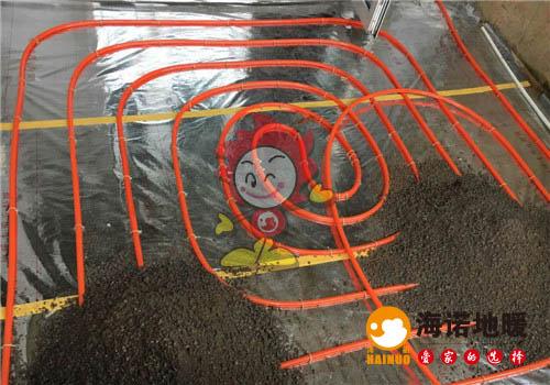 康桥花园海诺地暖盘管施工效果图