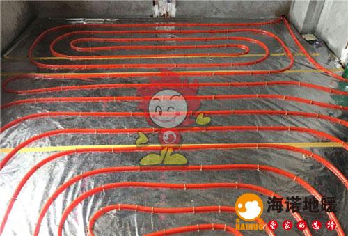 榕园海诺地暖盘管施工效果图
