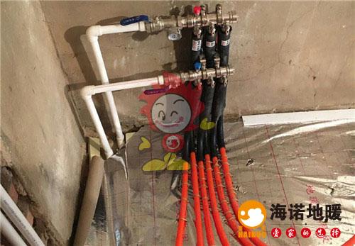 三水南里海诺地暖分水器施工效果图