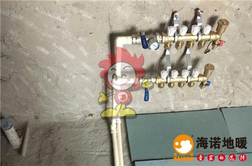 富力湾海诺地暖分水器施工效果图