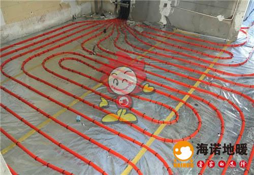 朗润园海诺地暖盘管施工效果图