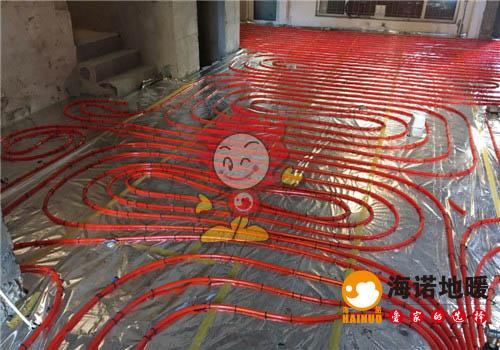 朗润园海诺地暖分水器施工效果图