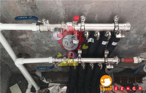 欧亚花园海诺地暖分水器施工效果图