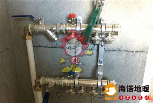 瑞晨家园海诺地暖分水器施工效果图