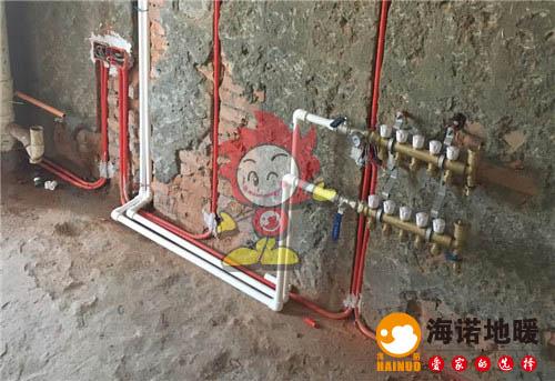 随园公寓海诺地暖分水器施工效果图