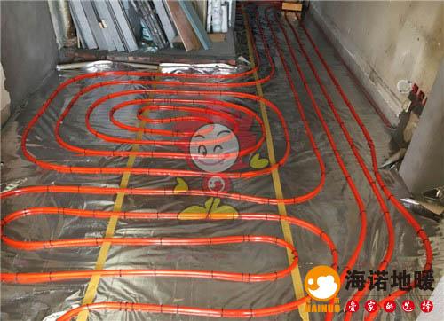 新城小区海诺地暖盘管施工效果图
